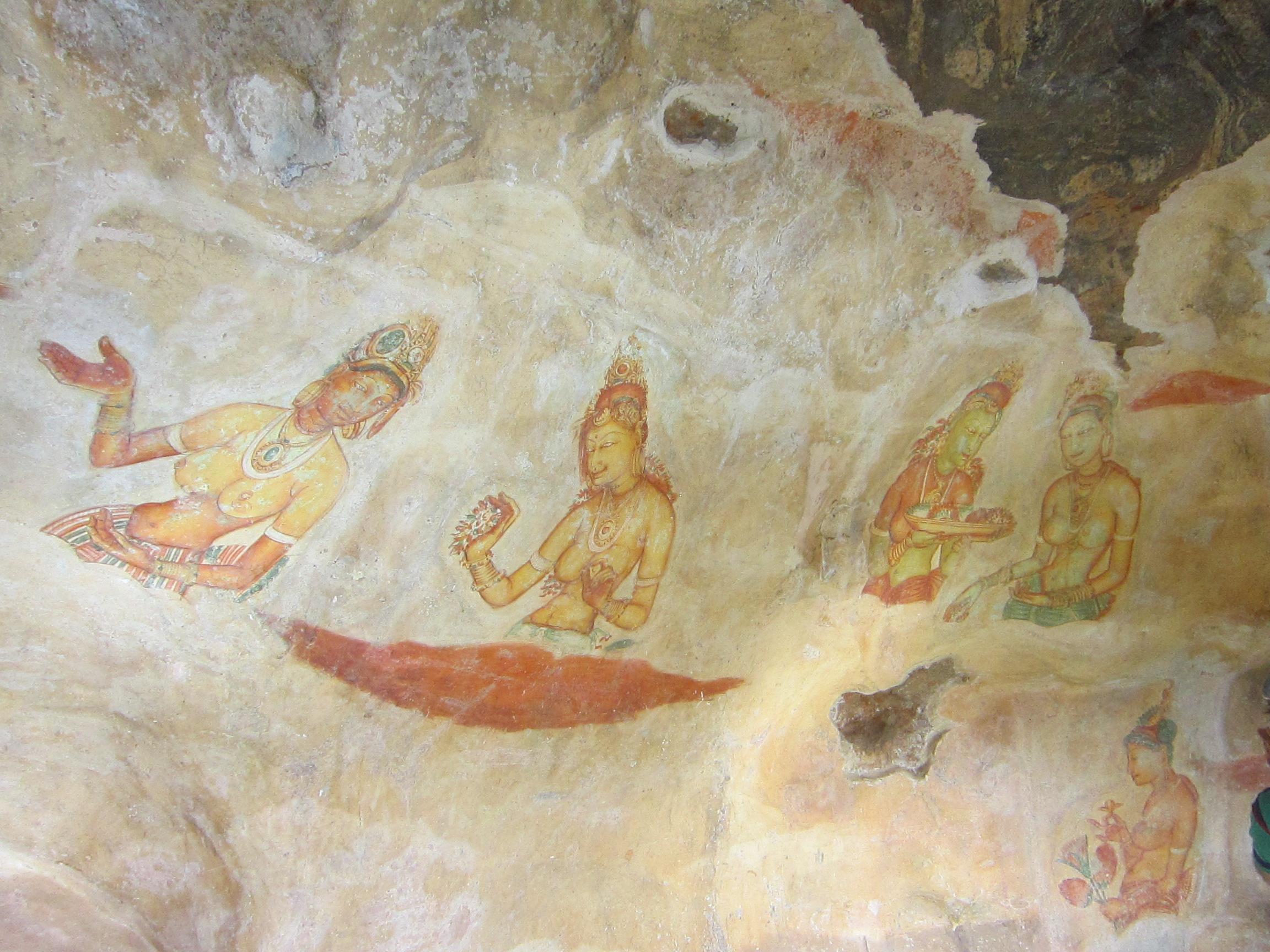 Сигирия - Львиная Гора. Живописные фрески 5 века