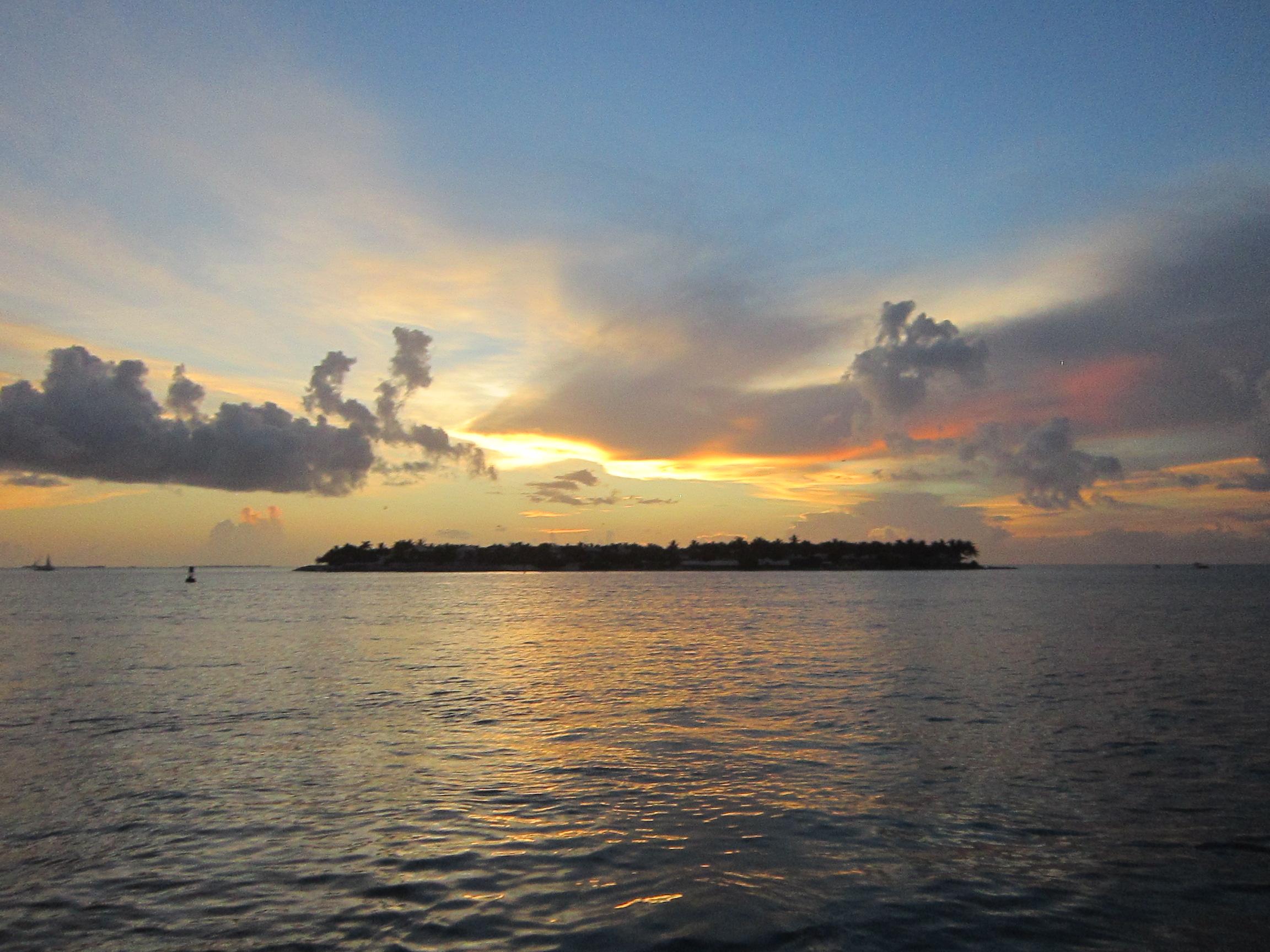 Закаты в Ки Уэсте удивительно красивы
