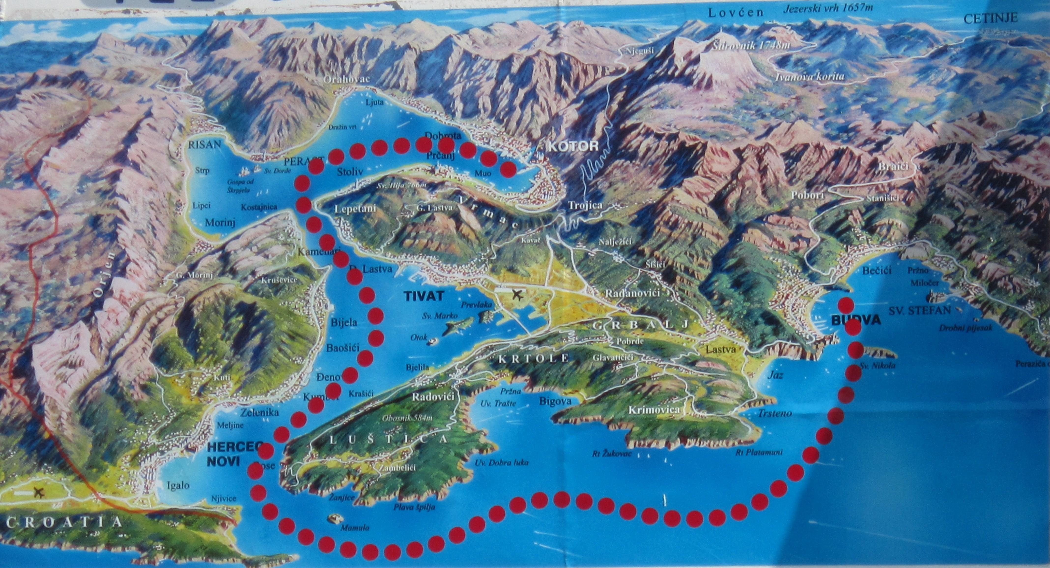Которский залив - самый южный фьорд Европы